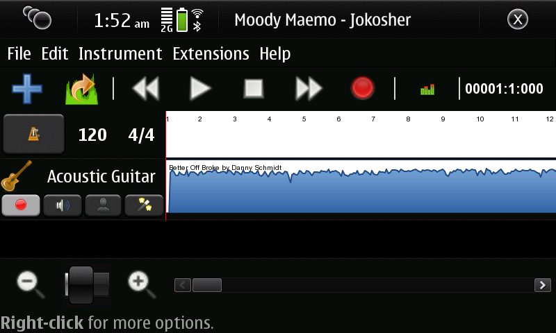 Jokosher on the Nokia n900